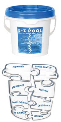 E-Z Pool is weekly pool care in a bucket